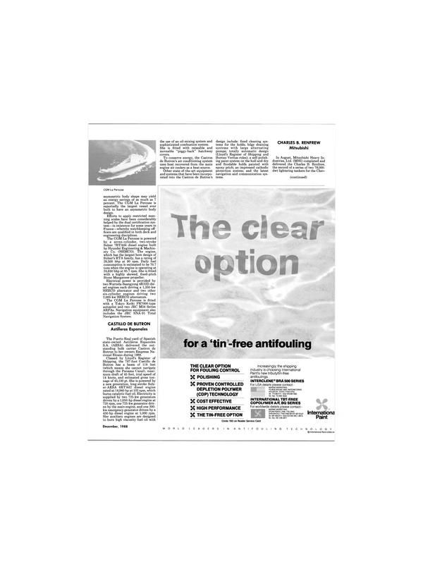 Maritime Reporter Magazine, page 11,  Dec 1988 Panama Canal