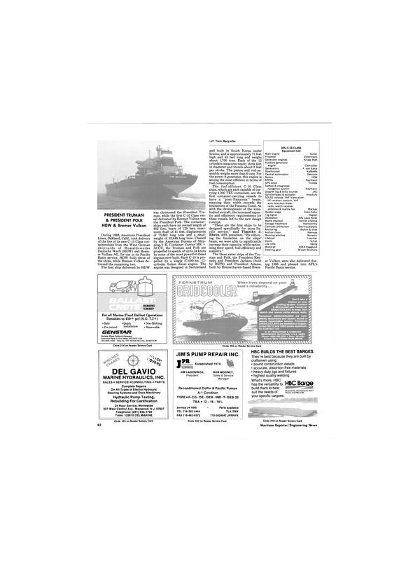 Maritime Reporter Magazine, page 38,  Dec 1988 Maryland