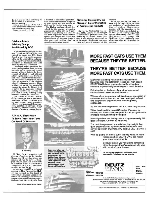 Maritime Reporter Magazine, page 9,  Jan 1989