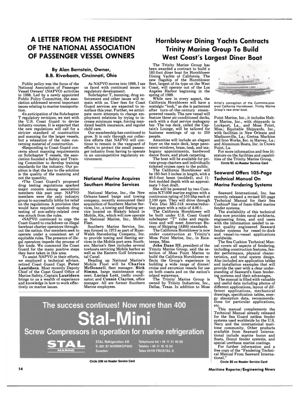 Maritime Reporter Magazine, page 12,  Jan 1989