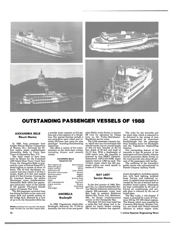 Maritime Reporter Magazine, page 14,  Jan 1989 Louisiana