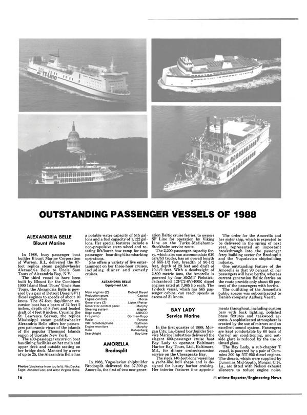 Maritime Reporter Magazine, page 14,  Jan 1989