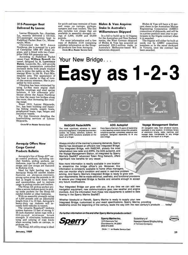 Maritime Reporter Magazine, page 27,  Jan 1989
