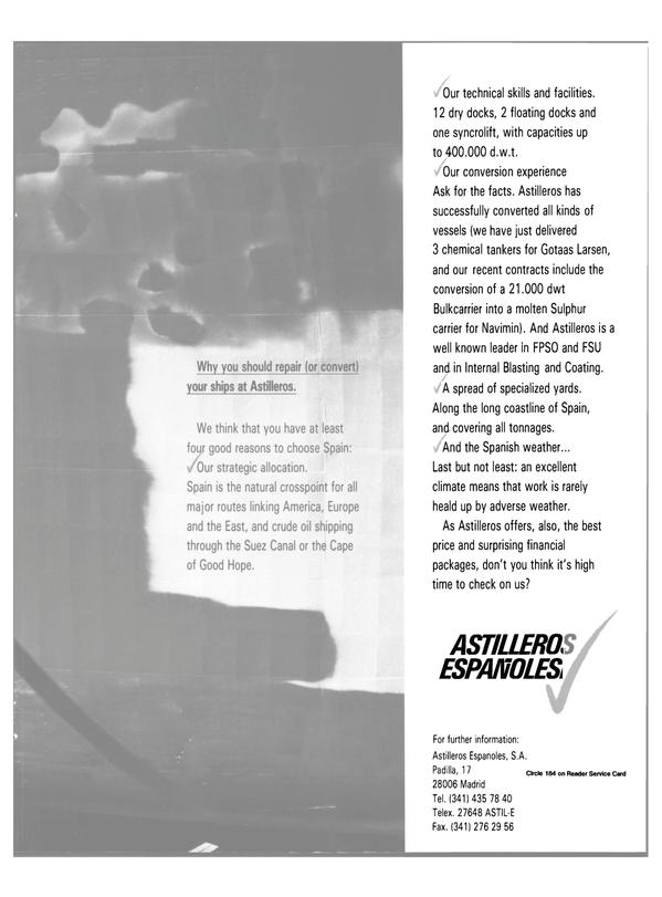Maritime Reporter Magazine, page 29,  Jan 1989