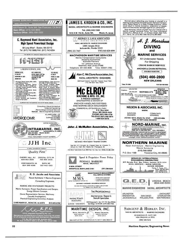 Maritime Reporter Magazine, page 46,  Jan 1989 California