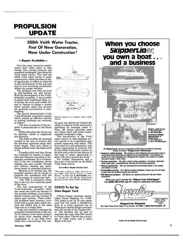 Maritime Reporter Magazine, page 5,  Jan 1989