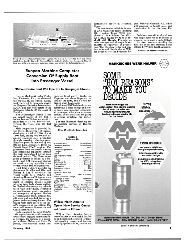 Maritime Reporter Magazine, page 9,  Feb 1989