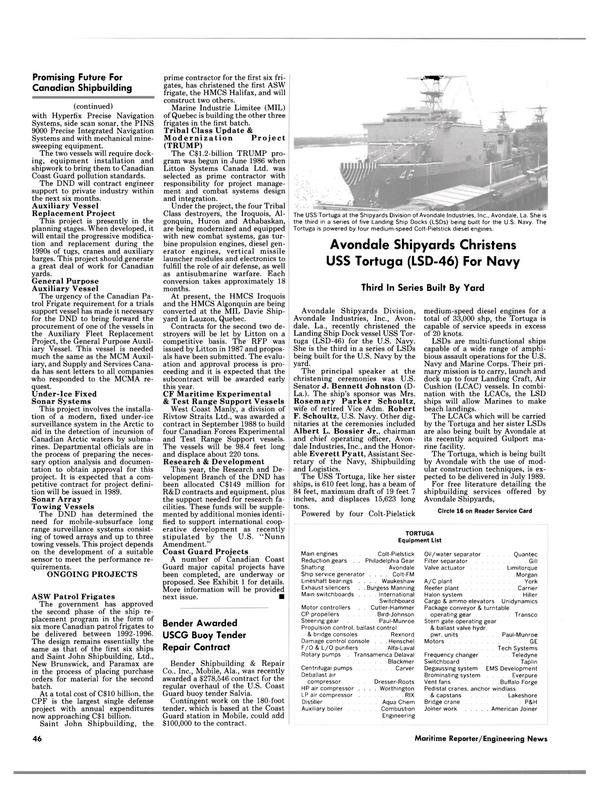 Maritime Reporter Magazine, page 44,  Feb 1989