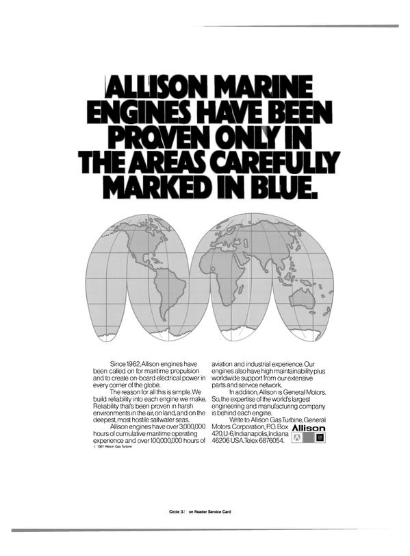 Maritime Reporter Magazine, page 48,  Feb 1989