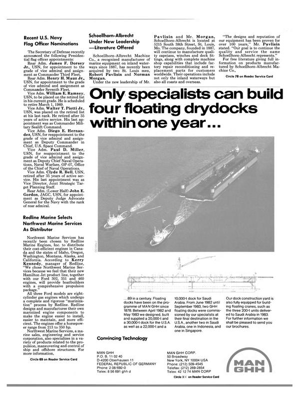 Maritime Reporter Magazine, page 51,  Feb 1989