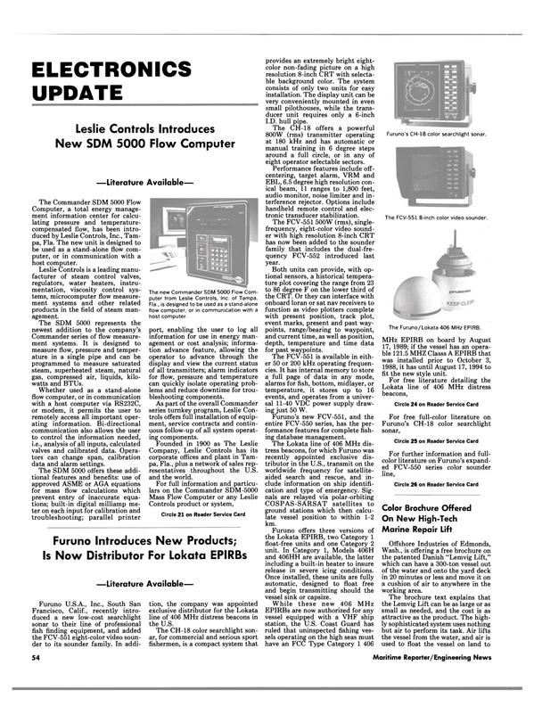 Maritime Reporter Magazine, page 52,  Feb 1989