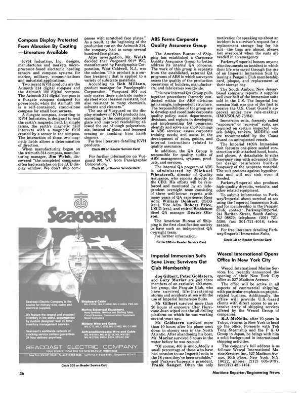 Maritime Reporter Magazine, page 36,  Mar 1989 California