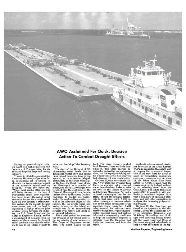 Maritime Reporter Magazine, page 44,  Mar 1989