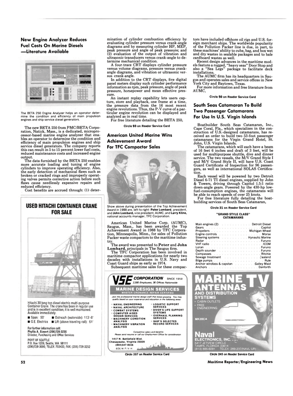 Maritime Reporter Magazine, page 52,  Mar 1989 Texas