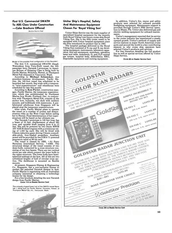 Maritime Reporter Magazine, page 53,  Mar 1989 Oregon
