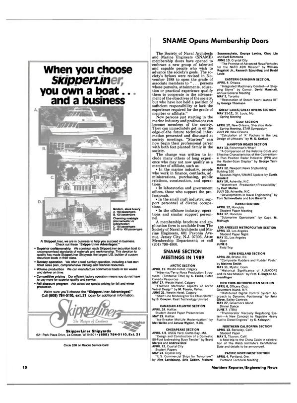 Maritime Reporter Magazine, page 8,  Apr 1989 Missouri