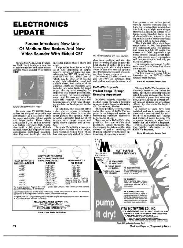 Maritime Reporter Magazine, page 20,  Apr 1989 John W. Milligan