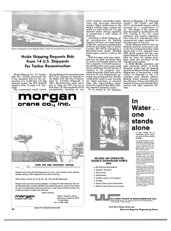 Maritime Reporter Magazine, page 46,  Apr 1989 Hiab Seacranes