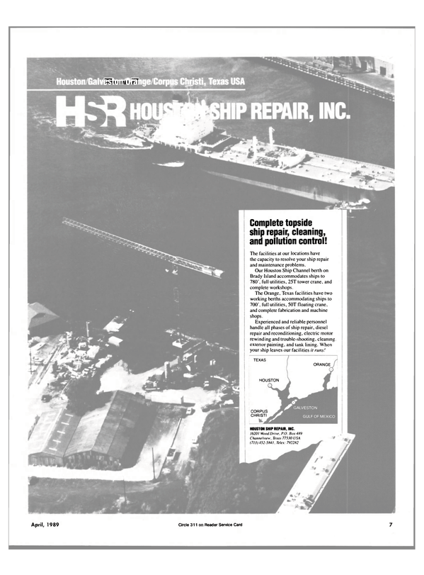Maritime Reporter Magazine, page 5,  Apr 1989 Texas