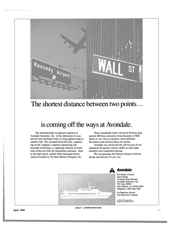 Maritime Reporter Magazine, page 69,  Apr 1989 Barry Heaps