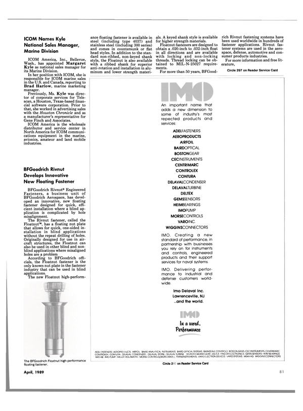 Maritime Reporter Magazine, page 79,  Apr 1989 New Jersey