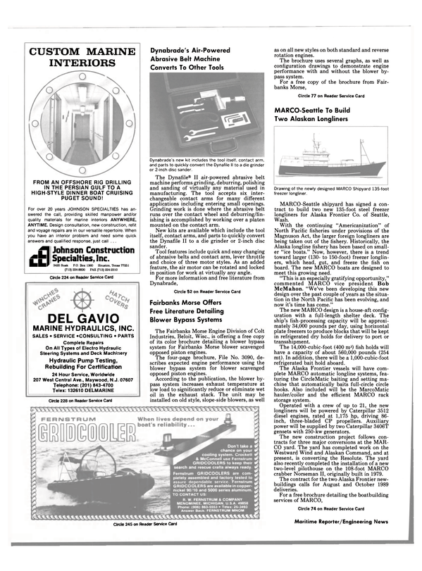 Maritime Reporter Magazine, page 82,  Apr 1989 Washington