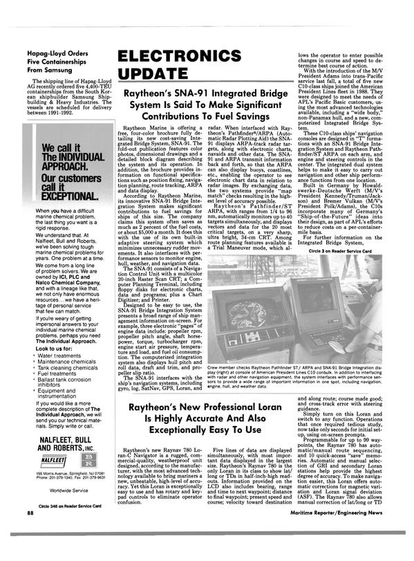 Maritime Reporter Magazine, page 86,  Apr 1989
