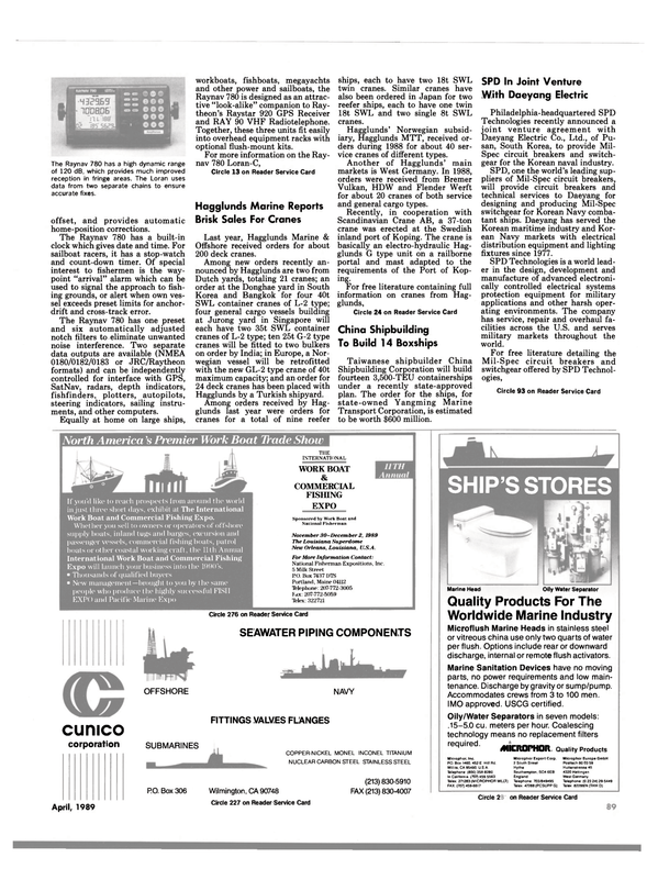 Maritime Reporter Magazine, page 87,  Apr 1989 Oily Water Separator