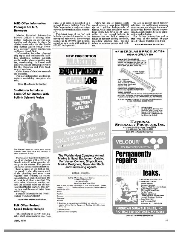 Maritime Reporter Magazine, page 89,  Apr 1989