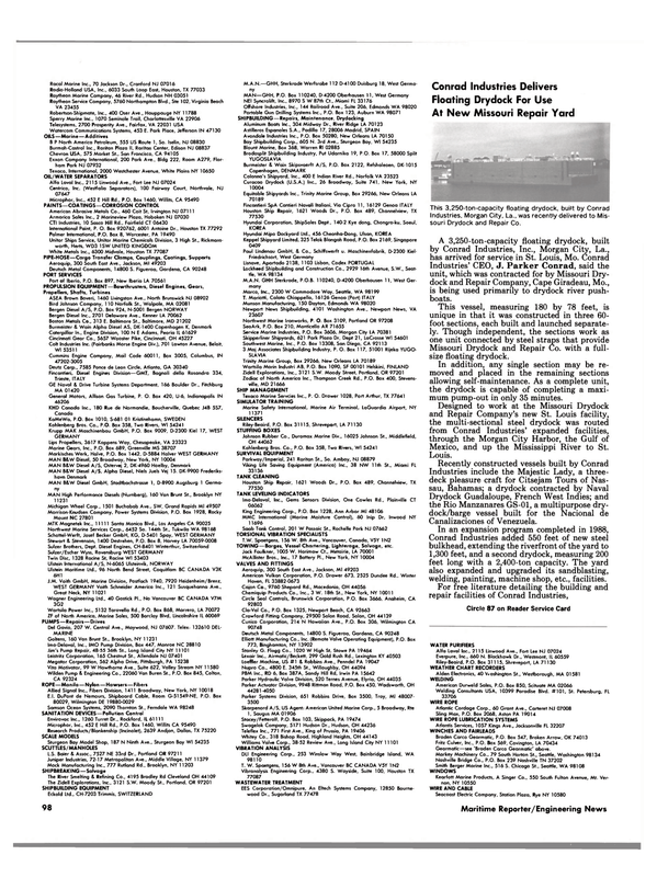 Maritime Reporter Magazine, page 94,  Apr 1989 Connecticut