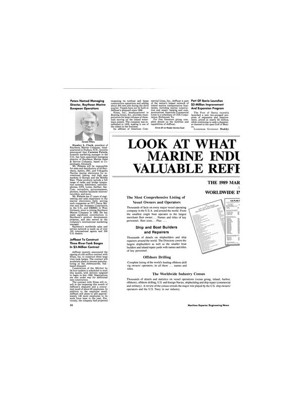 Maritime Reporter Magazine, page 50,  May 1989 Louisiana