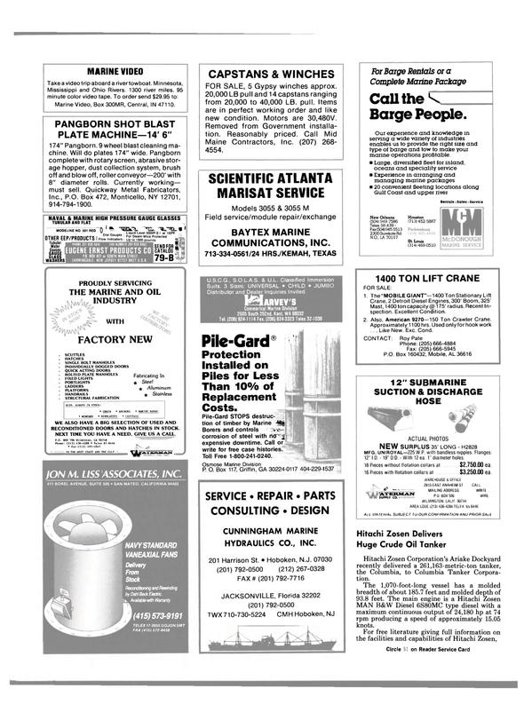 Maritime Reporter Magazine, page 109,  Jun 1989 Gulf coast