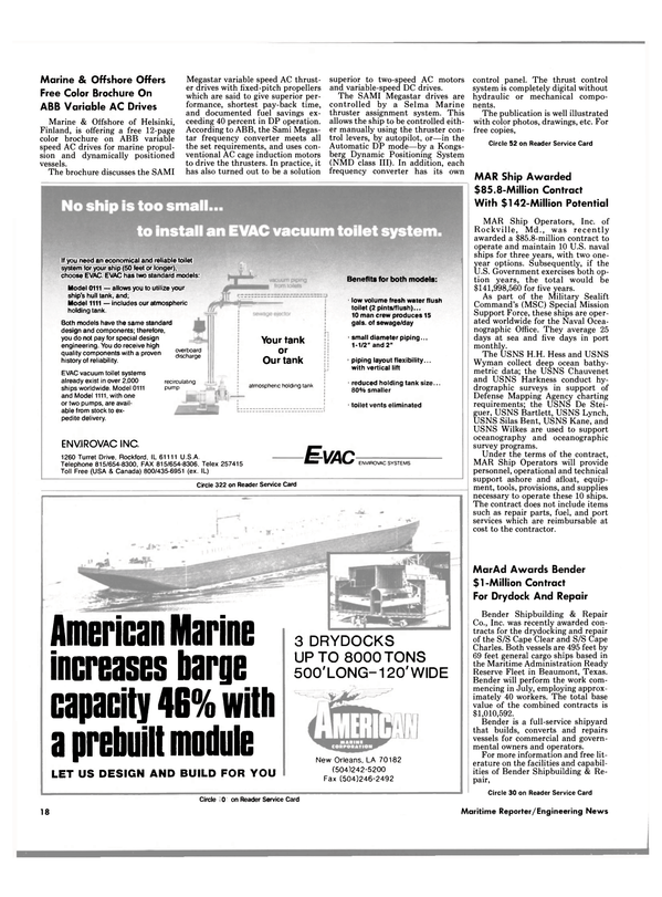 Maritime Reporter Magazine, page 14,  Jun 1989 Maryland