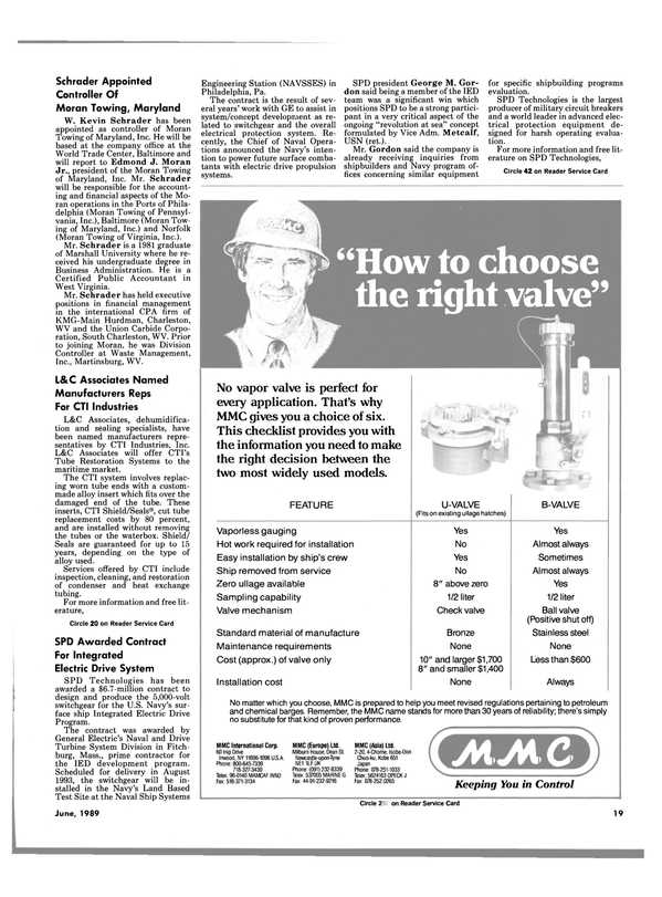 Maritime Reporter Magazine, page 15,  Jun 1989 Massachusetts