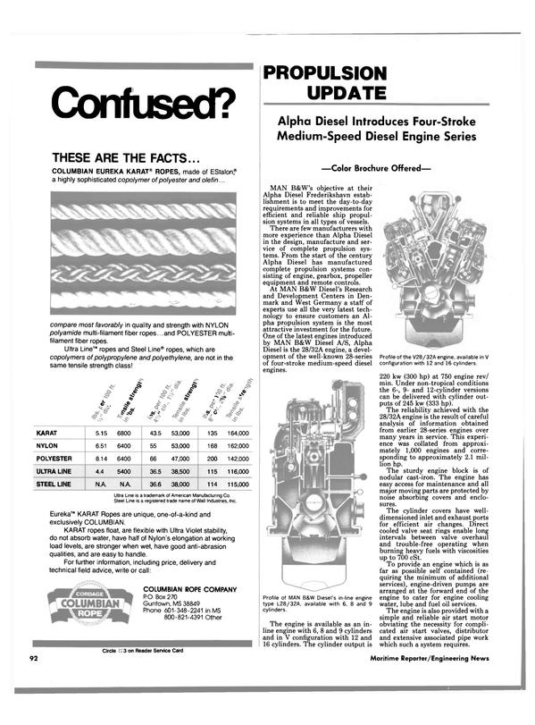 Maritime Reporter Magazine, page 88,  Jun 1989 propeller equipment