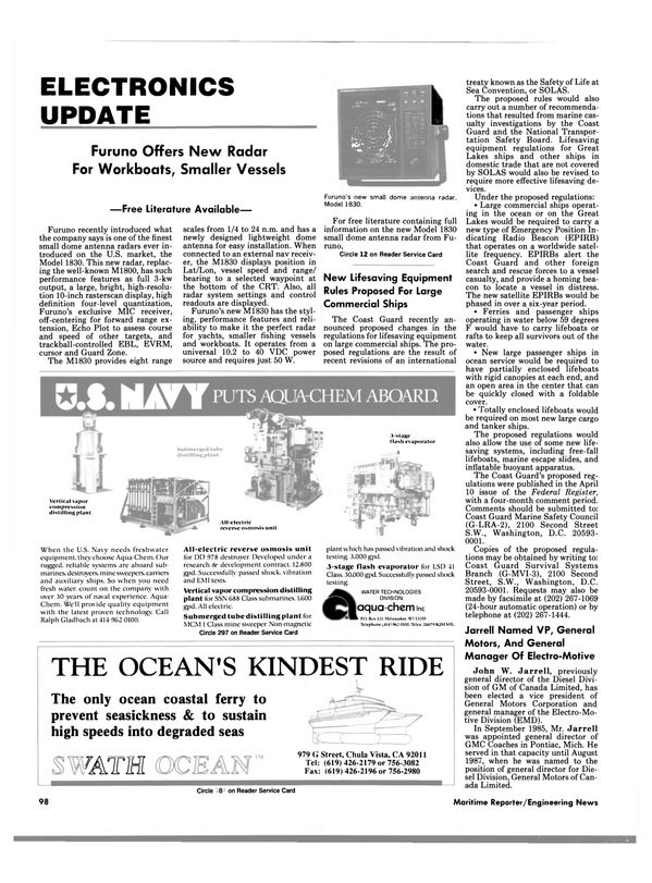 Maritime Reporter Magazine, page 94,  Jun 1989 California