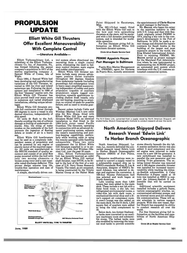 Maritime Reporter Magazine, page 97,  Jun 1989