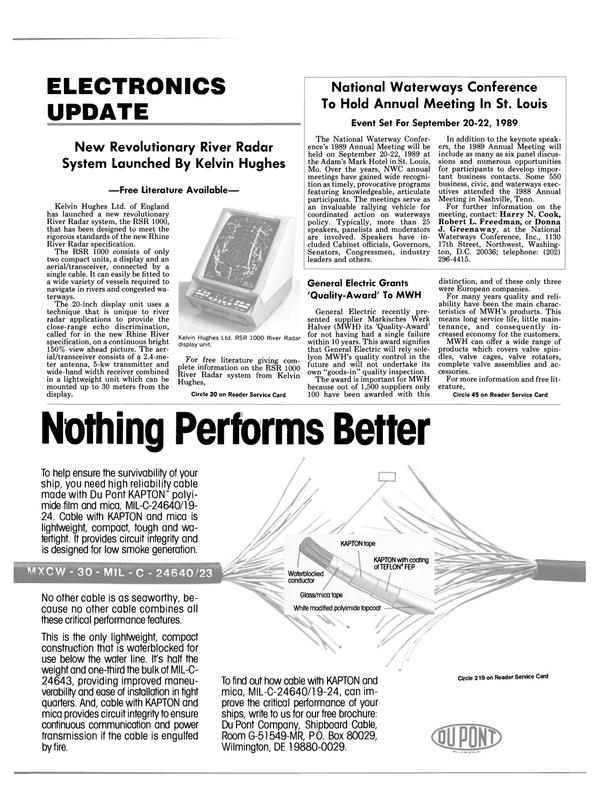 Maritime Reporter Magazine, page 11,  Jul 1989 Delaware