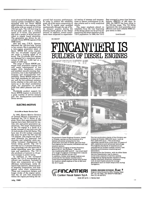 Maritime Reporter Magazine, page 17,  Jul 1989 energy generation