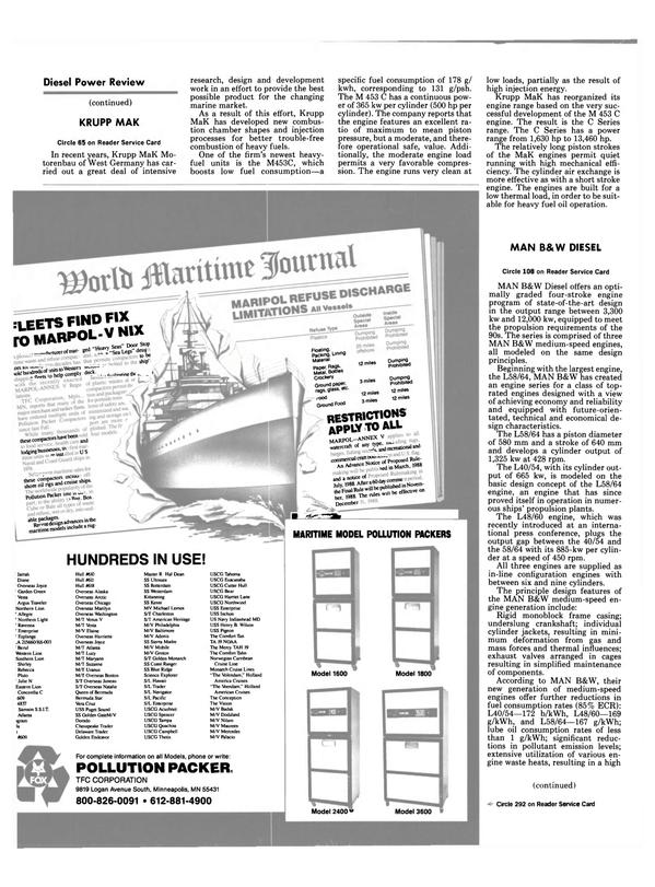 Maritime Reporter Magazine, page 18,  Jul 1989