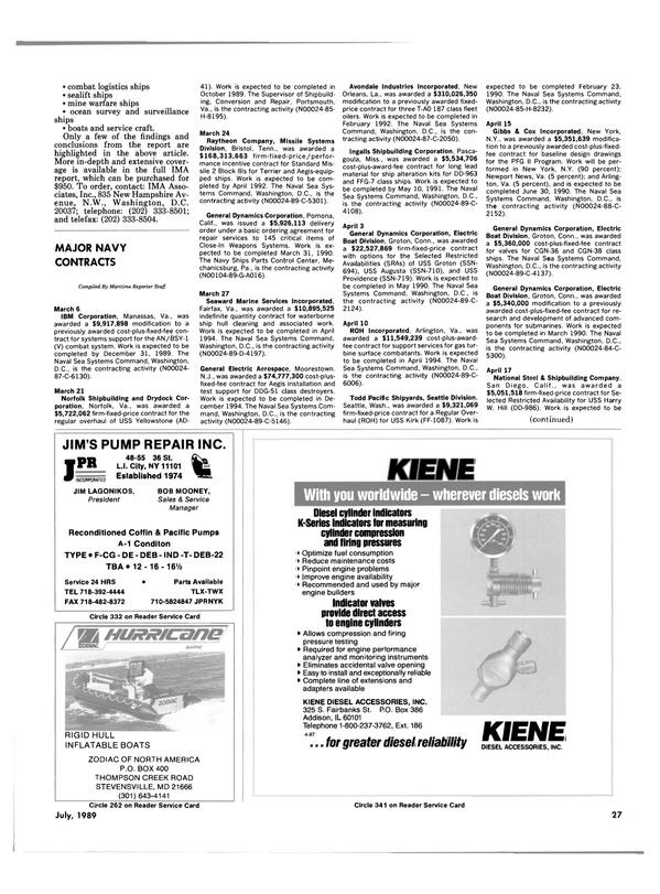 Maritime Reporter Magazine, page 25,  Jul 1989