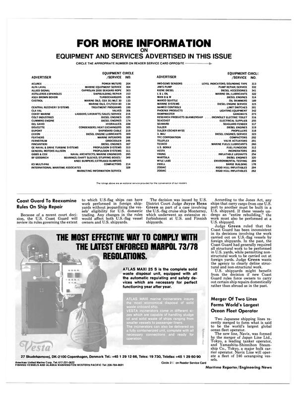 Maritime Reporter Magazine, page 44,  Jul 1989