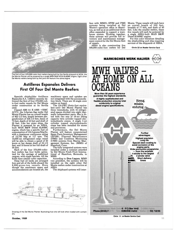 Maritime Reporter Magazine, page 9,  Oct 1989