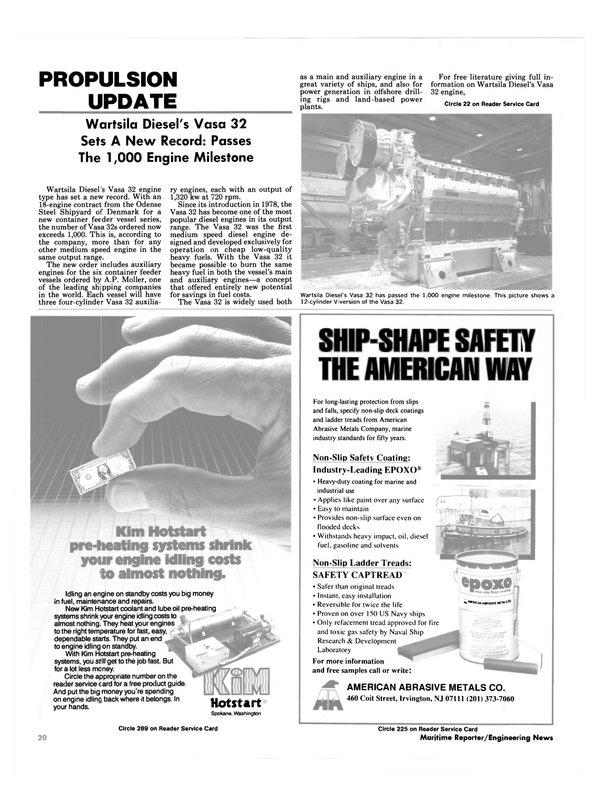Maritime Reporter Magazine, page 18,  Oct 1989
