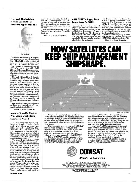 Maritime Reporter Magazine, page 21,  Oct 1989 New Jersey