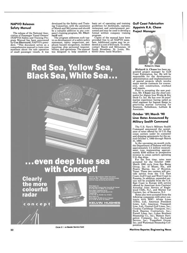 Maritime Reporter Magazine, page 32,  Oct 1989