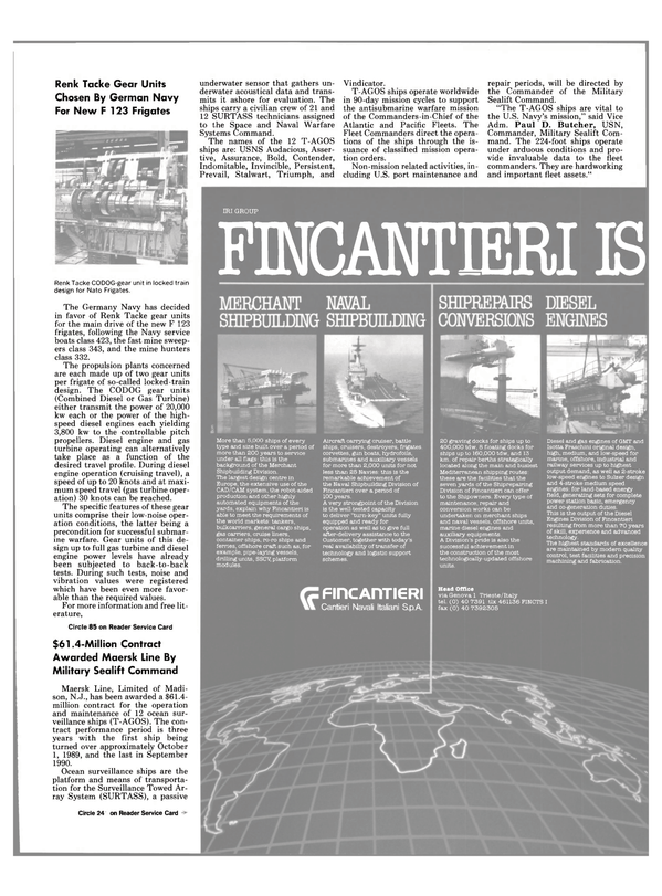 Maritime Reporter Magazine, page 33,  Oct 1989