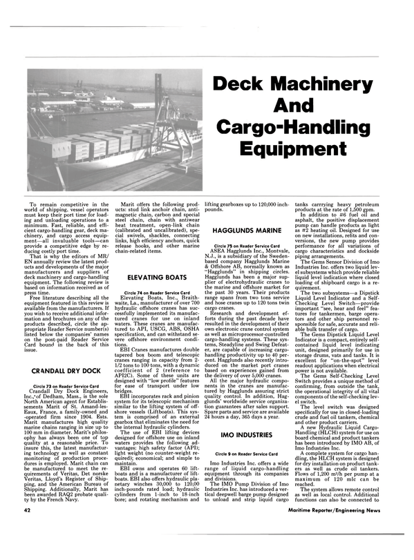 Maritime Reporter Magazine, page 42,  Oct 1989 Massachusetts
