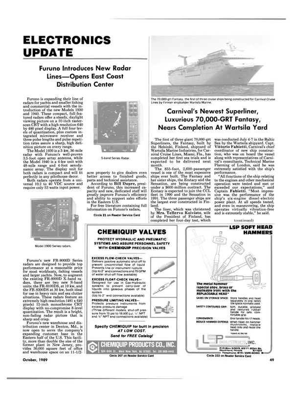 Maritime Reporter Magazine, page 49,  Oct 1989