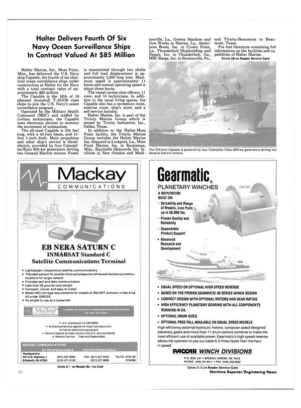 Maritime Reporter Magazine, page 52,  Oct 1989 United Nations